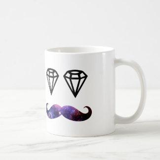 髭およびダイヤモンド コーヒーマグカップ