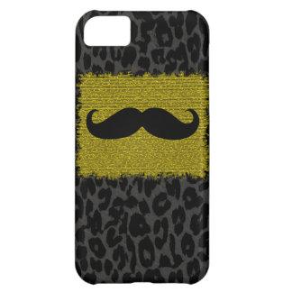 髭およびヒョウのプリント iPhone5Cケース