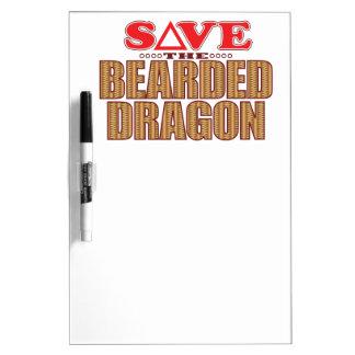 髭があるドラゴンの保存 ホワイトボード