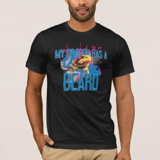 髭があるドラゴンのTシャツ: 私のドラゴンにひげがあります Tシャツ