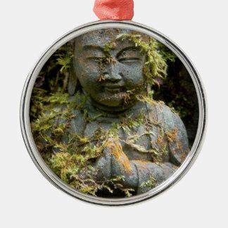 髭がある仏の彫像の庭の自然の写真撮影 メタルオーナメント
