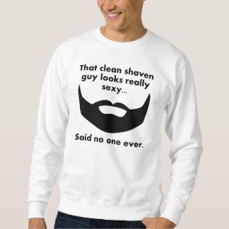 髭がない人 スウェットシャツ