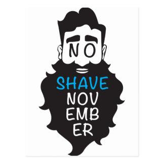 髭そり無し11月 ポストカード