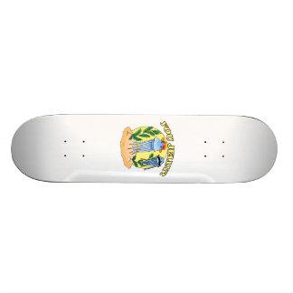 髭のくらげをゼリー状にします スケートボードデッキ