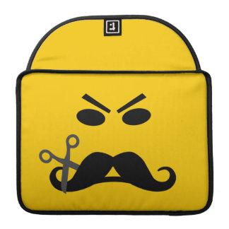 髭のにこやかでカスタムなMacBookの袖 MacBook Proスリーブ