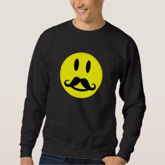 髭のにこやかなワイシャツ-スタイルを、カスタマイズ選んで下さい スウェットシャツ