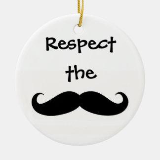 髭のオーナメントを尊重して下さい セラミックオーナメント