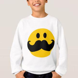 髭のスマイリー(カスタマイズ可能な背景色) スウェットシャツ