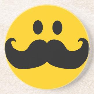 髭のスマイリー コースター