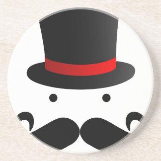 髭のデザイン コースター