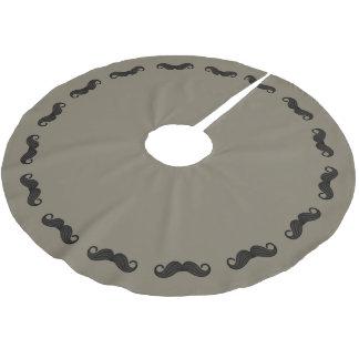 髭のボーダー ブラッシュドポリエステルツリースカート