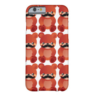 髭のユーモアのiPhone6ケースのかわいいくま Barely There iPhone 6 ケース
