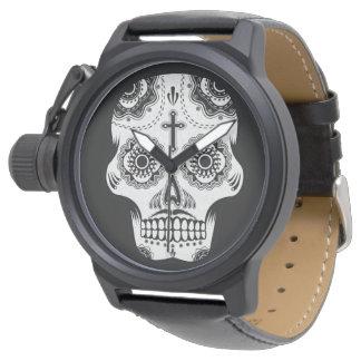髭の砂糖のスカル 腕時計