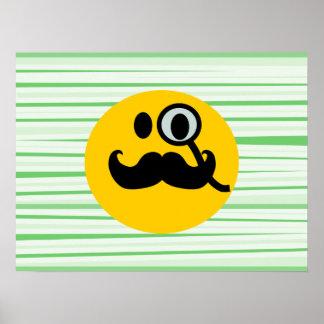 髭のmonocleのスマイリー ポスター
