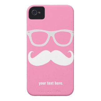 髭を搭載するおもしろいでオタク系のなガラス Case-Mate iPhone 4 ケース