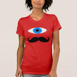 髭を搭載するシクロプス Tシャツ