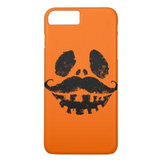 髭を搭載するハロウィンハロウィーンのカボチャのちょうちん iPhone 8 PLUS/7 PLUSケース
