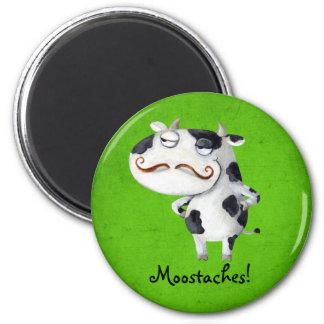 髭を搭載する牛 マグネット