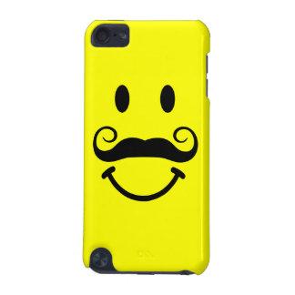 髭を搭載する黄色いスマイリーフェイス iPod TOUCH 5G ケース