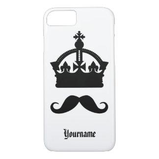 髭カスタムなモノグラム及び色のケースの王 iPhone 8/7ケース