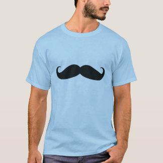 髭メンズTシャツの青 Tシャツ