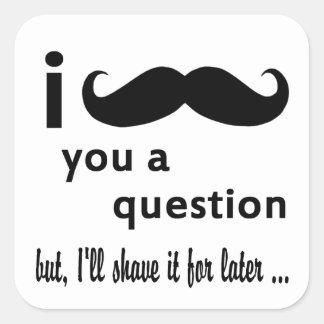 髭質問ギフト スクエアシール