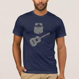 髭、ひげ、石Nロール男 Tシャツ