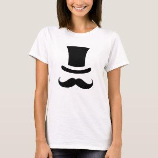 髭/口ひげのシルクハット Tシャツ