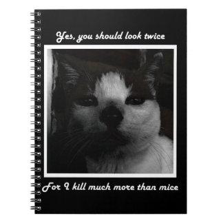 鬼の子猫のノート ノートブック