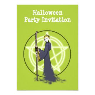 鬼を持つハッピーハローウィンのパーティの招待状 カード