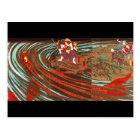 鬼若丸の鯉退治、国芳モンスターのコイ、Kuniyoshi、Ukiyo-e ポストカード