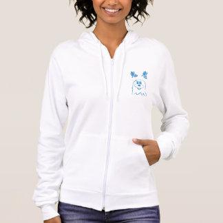 鬼鬼のHanes白く及び青のComfortBlend®のフード付きスウェットシャツ4 パーカ