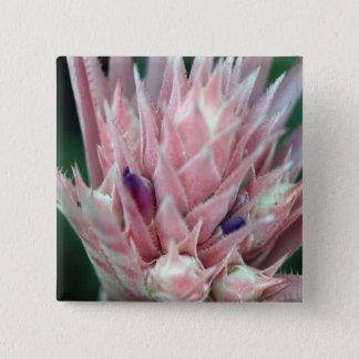 魅了されたピンク 5.1CM 正方形バッジ