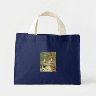 魅了された妖精及びカエル ミニトートバッグ