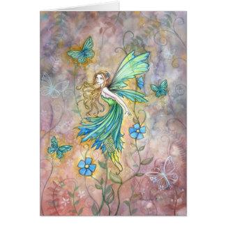 魅了された庭の妖精カード グリーティングカード
