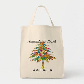 魅了された松の木の森林結婚式 トートバッグ