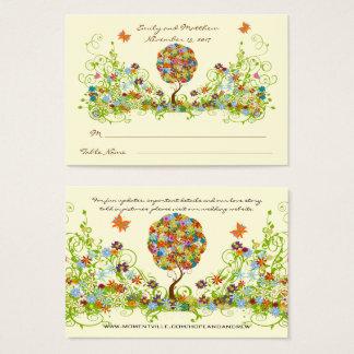 魅了された森林パッチワークの花のおとぎ話の木 名刺