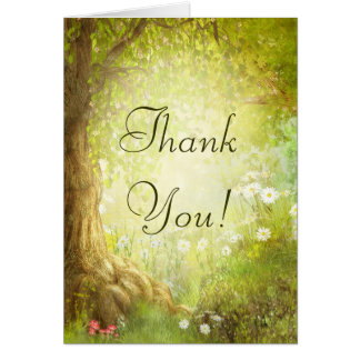 魅了された森林場面は感謝していしています カード
