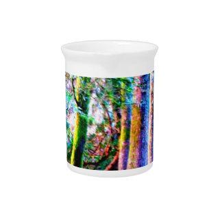 魅了された森林抽象美術の水差し ピッチャー