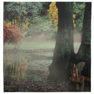 魅了された森林-妖精 ナプキンクロス
