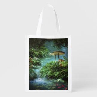 魅了された池の再使用可能な買い物袋 エコバッグ