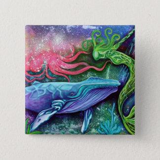 魅了された海の芸術 5.1CM 正方形バッジ