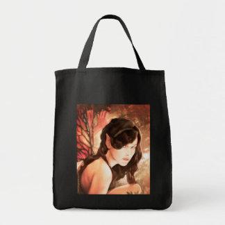 魅了された秋の妖精の食料雑貨の戦闘状況表示板 トートバッグ