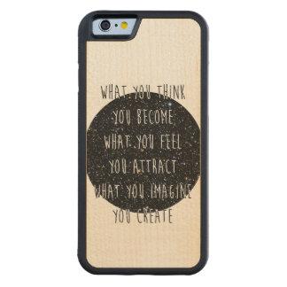 魅力のかえで木iPhone6ケースの法律 CarvedメープルiPhone 6バンパーケース