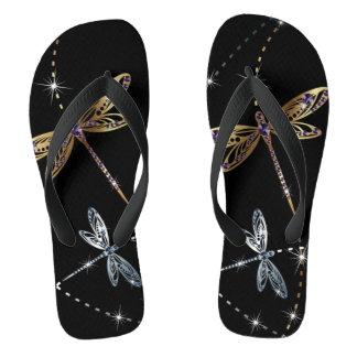 魅力のダイヤモンドの蝶 ビーチサンダル