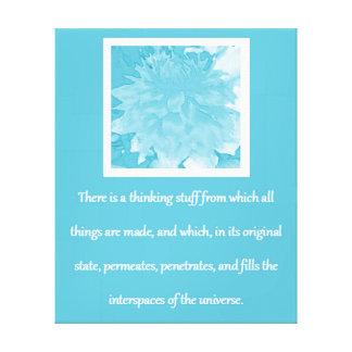魅力の引用文-青いダリアの法律 キャンバスプリント