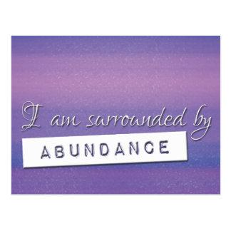 魅力の豊富の断言の紫色の法律 ポストカード