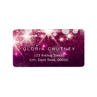 魅力の輝きとの流行のピンクのグリッター ラベル