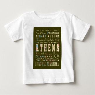 魅力及び有名な場所アテネ、ギリシャ ベビーTシャツ