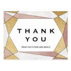 魅力的で幾何学的なダイヤモンドは感謝していしています ポストカード